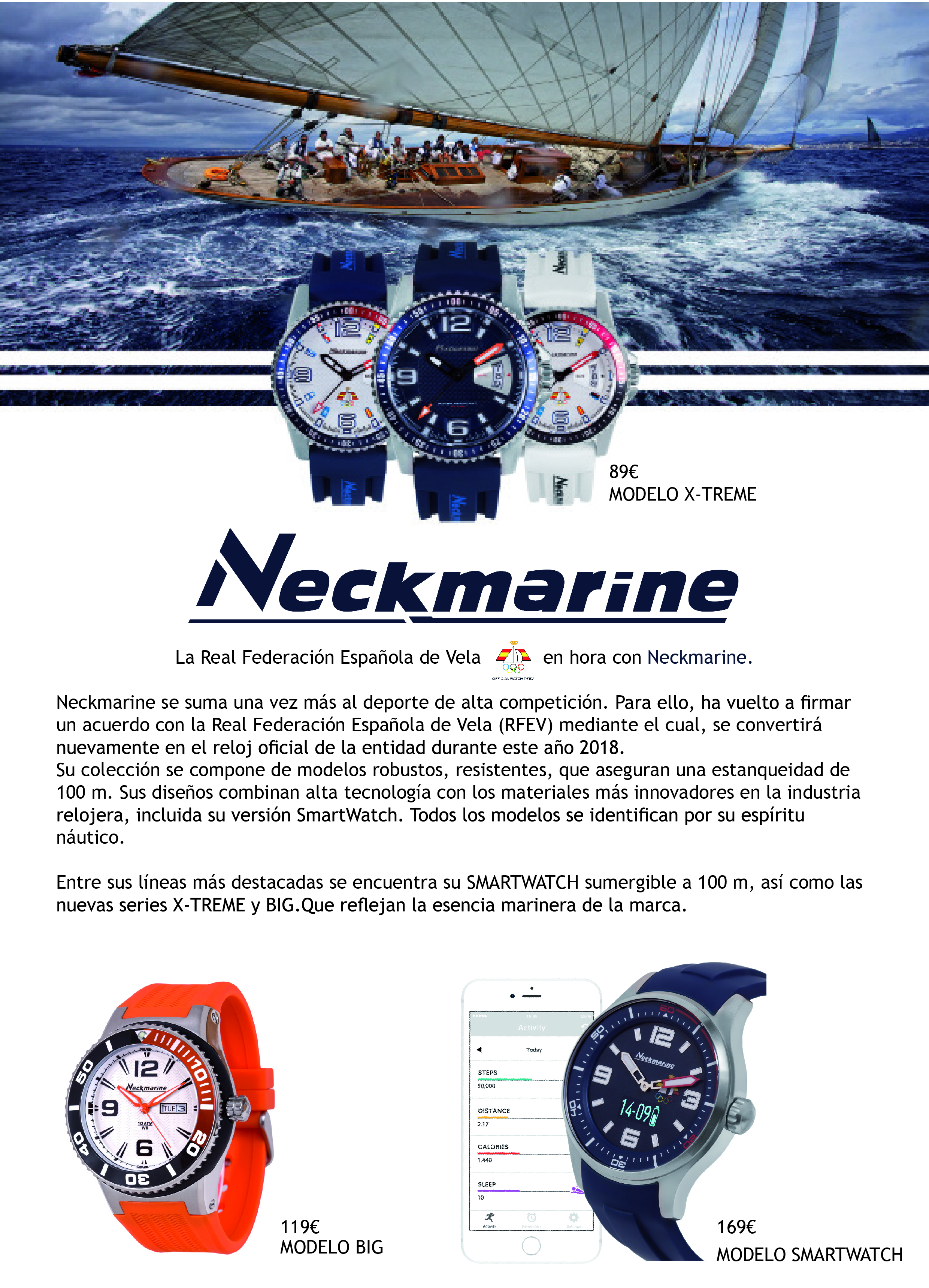 Nota de prensa Neckmarine